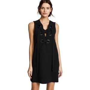 NWT English Factory Lace Up Front Black Dress